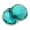 Acrylic 10mm Round Facet Teal